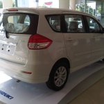 Rear three quarter of the Suzuki Ertiga Elegant in Indonesia