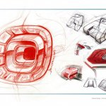 Taillight sketch of the Smart Fourjoy Concept