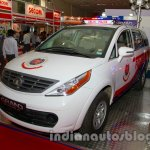 Tata Aria police patrol vehicle front three quarters