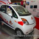 Tata Nano police patrol vehicle front three quarters left