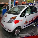 Tata Nano police patrol vehicle front three quarters