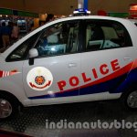 Tata Nano police patrol vehicle side view