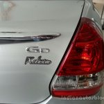 Toyota Etios Xclusive badge