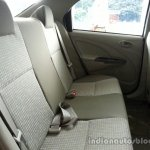 Toyota Etios Xclusive rear fabric seats