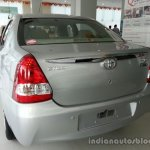 Toyota Etios Xclusive rear three quarter