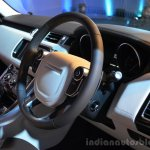 2014 Range Rover Sport India steering wheel
