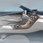 2015 Mercedes C Class interior sketch 2