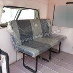 Ashok Leyland Dost Express seats facing the cabin