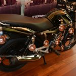 Bajaj Discover 100M rear three quarters view
