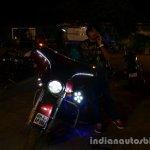 Harley Davidson India customized bike lights