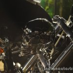 Harley Davidson India customized bike skull headlight