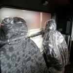 Mahindra Bolero Pik-up facelift seats with adjustable head restraints