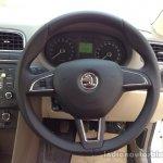 New 2014 Skoda Rapid steering wheel