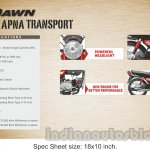 New Hero HF Dawn specifications