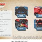 New Hero Karizma ZMR specifications