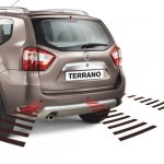 Nissan Terrano rear parking sensor
