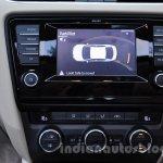 Skoda Octavia reverse parking sensor at work