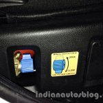 Tata Nano emax CNG CNG cylinder (under driver seat)