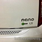 Tata Nano emax CNG LX variant badge