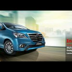 Toyota Innova facelift front three quarters view