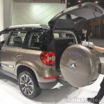 2014 Skoda Yeti L with boot mounted spare wheel boot open