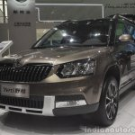 2014 Skoda Yeti L with boot mounted spare wheel front quarter