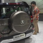 2014 Skoda Yeti L with boot mounted spare wheel rear at Guangzhou Motor Show