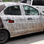 2015 Ford Figo spied rear three quarter