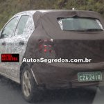 2015 Ford Figo spied rear three quarters