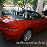 BMW Z4 facelift India rear three quarters right