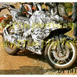 Bajaj Pulsar 200SS spied front three quarters