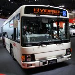 Isuzu ELGA Hybrid front Tokyo Motor Show
