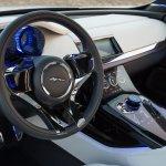 Jaguar C-X17 Dubai show steering