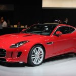 Jaguar F-Type R Coupe at LA Auto Show front three quarters