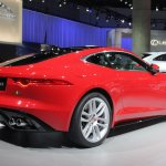 Jaguar F-Type R Coupe at LA Auto Show rear three quarters right