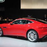 Jaguar F-Type R Coupe at LA Auto Show rear three quarters view