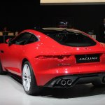 Jaguar F-Type R Coupe at LA Auto Show rear three quarters