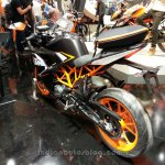 KTM RC125 rear three quarters view