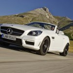 Mercedes SLK 55 AMG front three quarters