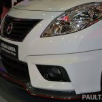 Nissan Almera Nismo front bumper spoiler