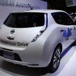 Nissan Leaf Autonomous Drive Technology rear quarter