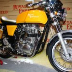 Royal Enfield Continental GT Yellow front three quarter