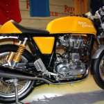 Royal Enfield Continental GT Yellow rear three quarter