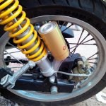 Royal Enfield Continental GT rear suspension live image