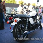 Triumph Bonneville launched white rear quarter
