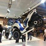 Yamaha Tricity rear three quarters