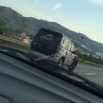 2014 Mahindra Scorpio Facelift spied IAB rear quarter