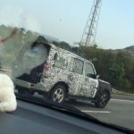 2014 Mahindra Scorpio Facelift spied IAB side 3