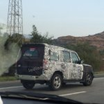 2014 Mahindra Scorpio Facelift spied IAB side 4