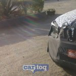 2014 Mahindra Scorpio facelift spyshot bumper